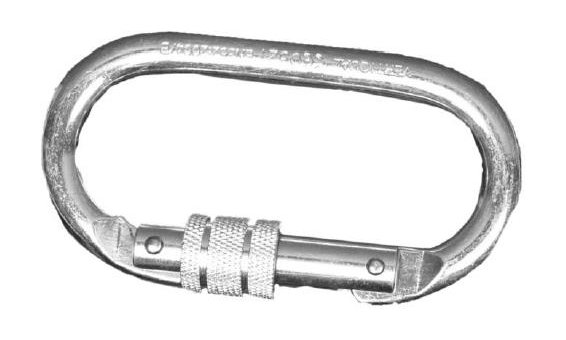 Repapress Moschettone a vite in acciaio, ovale [ANNAPURNA]