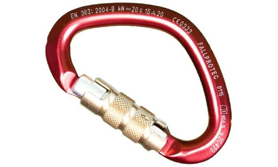 Repapress Moschettone Triplelock in alluminio, semitondo [LUNA]