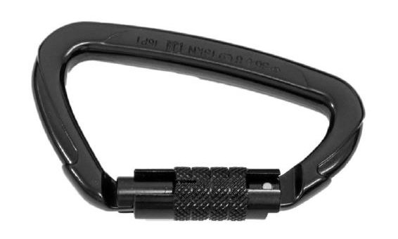 Repapress Moschettone Triplelock in alluminio, nero [SÄNTIS]