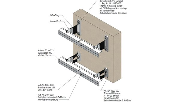 Ecolite PV-Fassadensystem BR-KA-P-NB