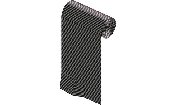Solrif N Abschlussschürze Alu Stretch 300 mm, schwarz