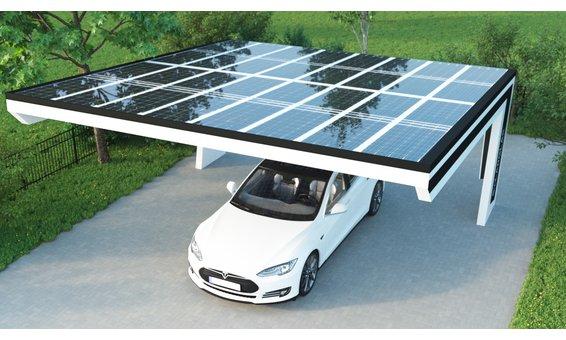 Solarglas BUMERANG SOLARCARPORT VB1 16 Module | 2.80 kWp