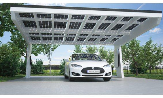 Solarglas BUMERANG SOLARCARPORT Erweiterung vom Standard | VSG 10mm