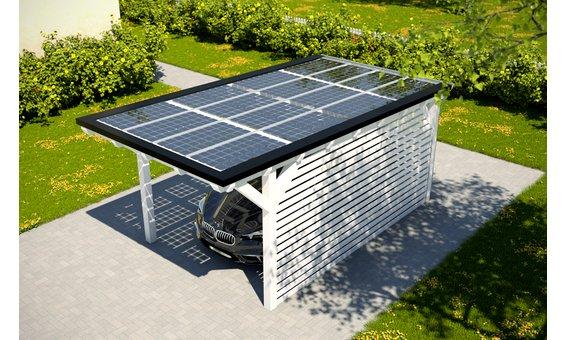 Solarglas Carport V1 | 3.16 x 6.25 m  | 16 Module | 2.80 kWp