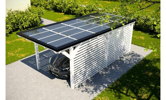Solarglas Carport V2 | 3.16 x 7.80 m | 20 Module | 3.30 kWp