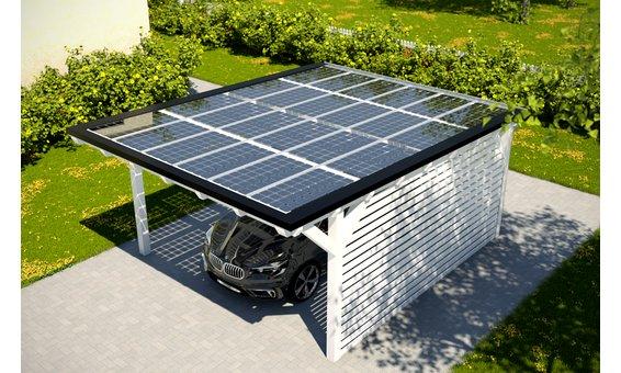 Solarglas Carport V4 | 4.62 x 6.25 m | 24 Module | 3.96 kWp
