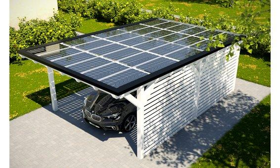 Solarglas Carport V5 | 4.62 x 7.80 m | 30 Module | 4.95 kWp