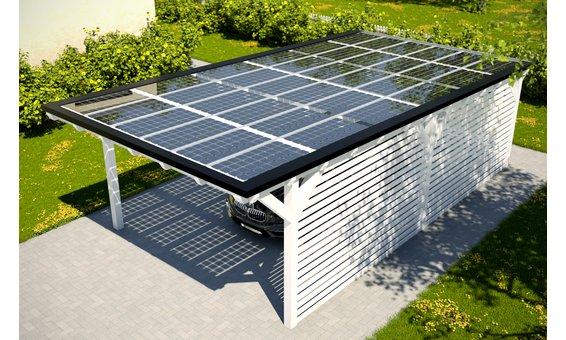 Solarglas Carport V6 | 4.62 x 9.35 m | 36 Module | 5.94 kWp