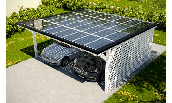 Solarglas Carport V7 | 6.09 x 6.25 m | 32 Module | 5.28 kWp