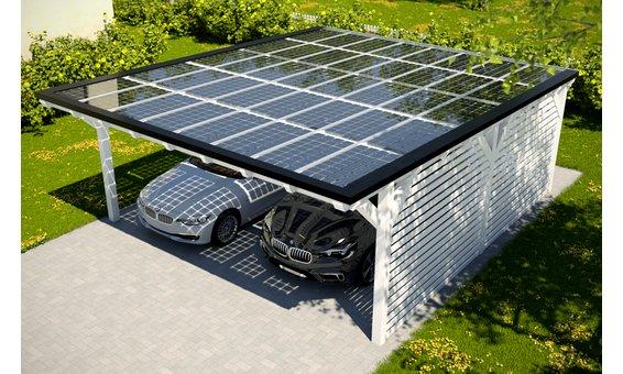 Solarglas Carport V8 | 6.09 x 7.80 m | 40 Module | 6.60 kWp