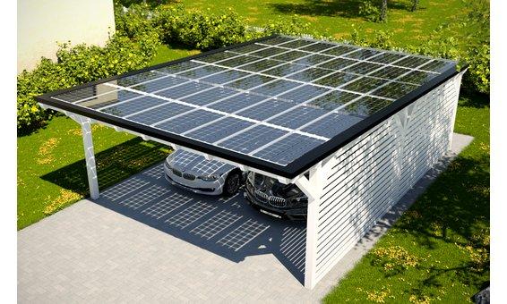 Solarglas Carport V9 | 6.09 x 9.35 m | 48 Module | 7.92 kWp