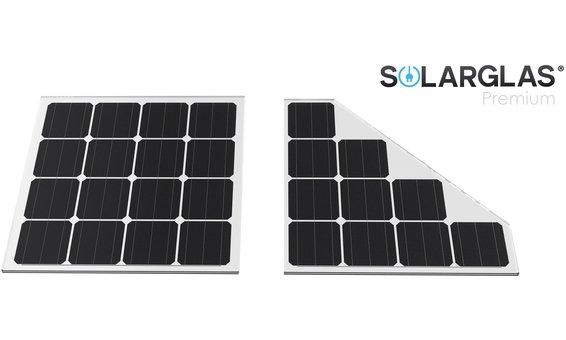 Solarglas Carport Vergrößerung vom Standard Individuelle Module 150W/m2