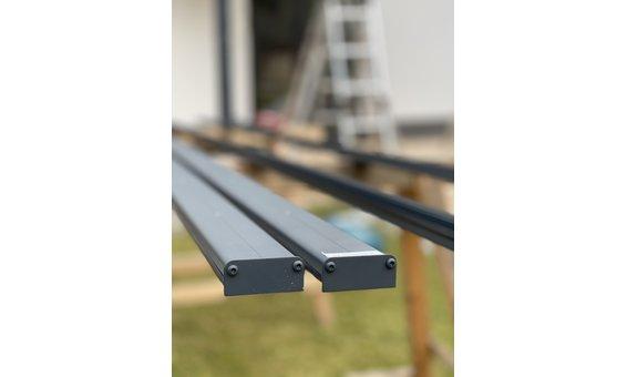Solarglas Dach Befestigung auf Holz / Alu - RAL
