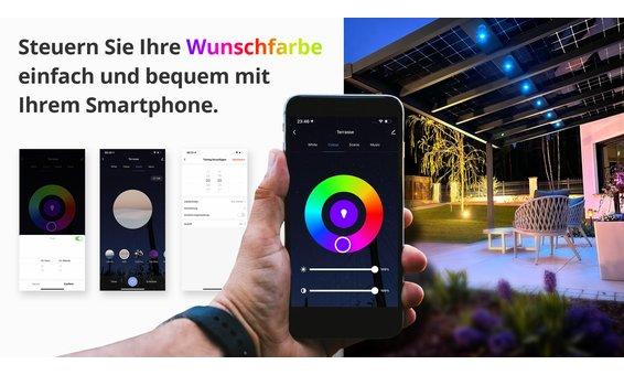 Solarglas Zubehör LED Ambiente Beleuchtung