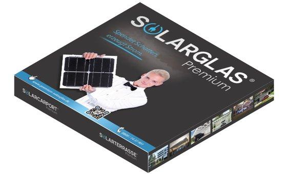 Solarglas Musterbox inkl. Handmuster/Fotobuch