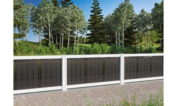 Solarglas SOLARZAUN DUPLEX Option Blackdesign Hochglanz