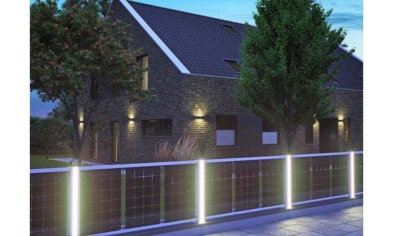 Solarglas SOLARZAUN DUPLEX Option LED Leiste pro Seite / pro Pfosten