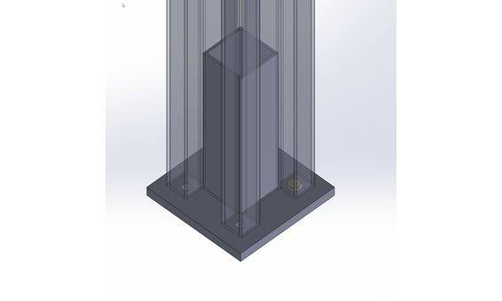 Solarglas SOLARZAUN DUPLEX Option Zusatzpfosten 14 x 14 cm