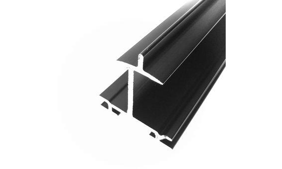 SolarStand Horizontal-Einlegeschiene mit Schneestopper schwarz 35mm