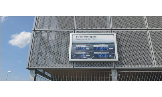 Schaukasten-Vitrine LED-DOT 100, Aussenbereich