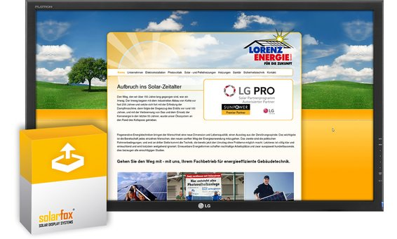 Solarfox Slide-Modul externe HTML Seite einmalige Setup Gebühr