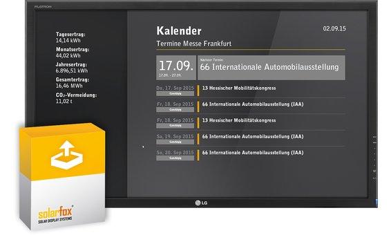 Solarfox Zusatzpaket Slide-Modul Terminkalender