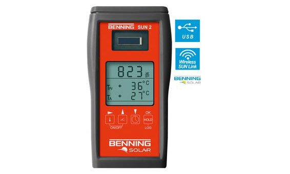 Appareil de mesure du rayonnement et de la température Benning SUN 2