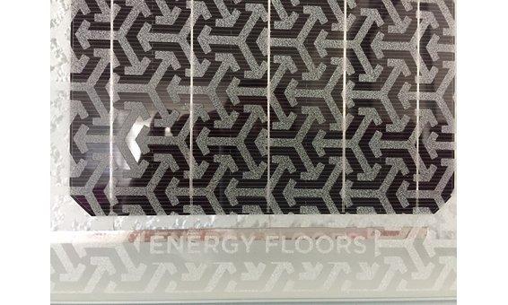 Panneau en façade carré, double vitrage, imprimé avec motifs